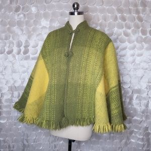 VTG Columbia Thick wool cape Poncho Cold weather